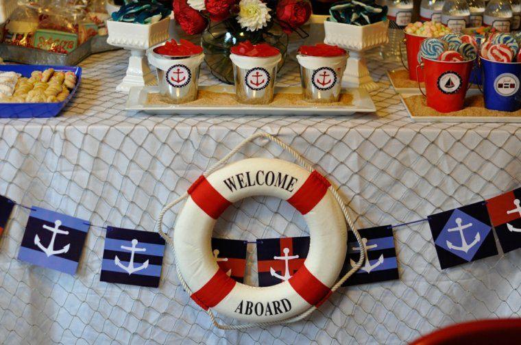 la mesa marino tematica salvavidas