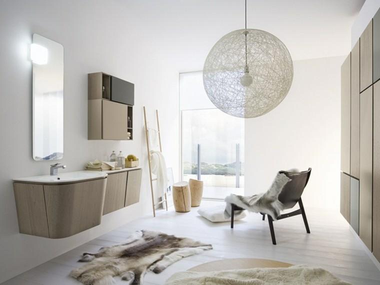 cómo decorar un baño lampara preciosa piel animal bano moderno ideas