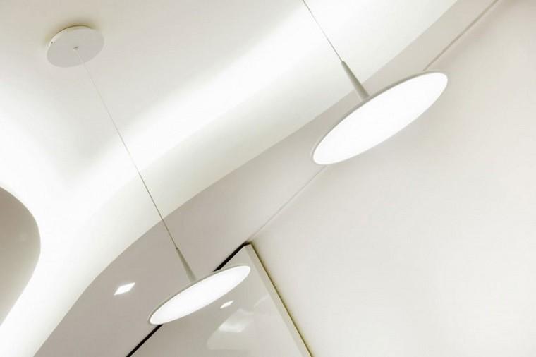 lamparas colgantes planas modernas blancas