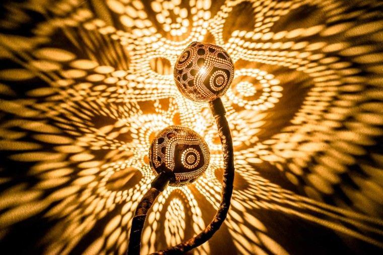 lamparas diseño cocos artistico natural