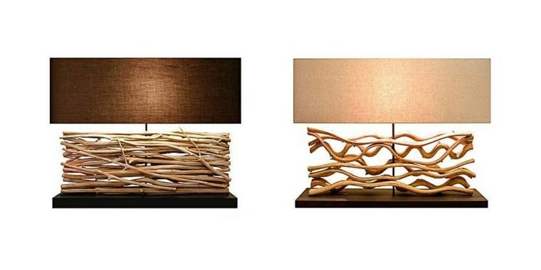 lamparas diseño habitacion elegantes ramas