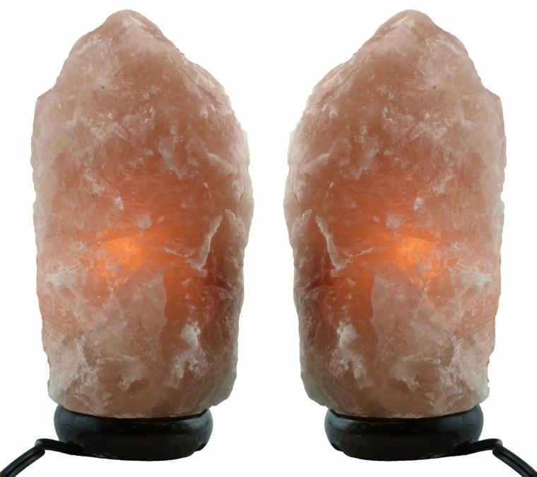 lamparas diseño sal aire purificador cristales