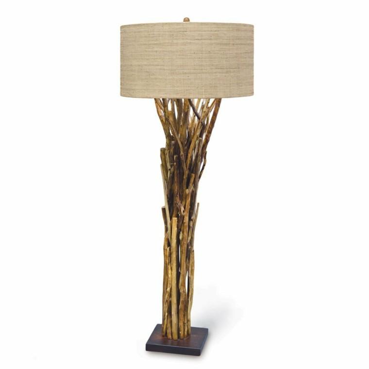 lamparas diseño tronco naturales encordados ramas