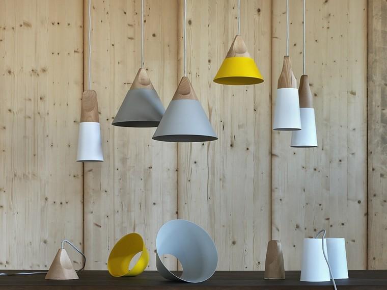 lamparas diseno colores casa modernas techo ideas