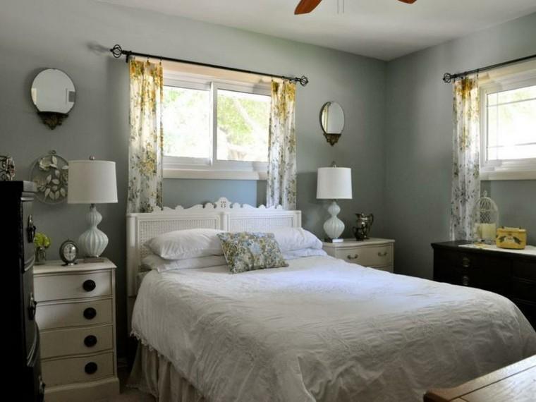 lamparas diseno gabeteros blancos cortinas