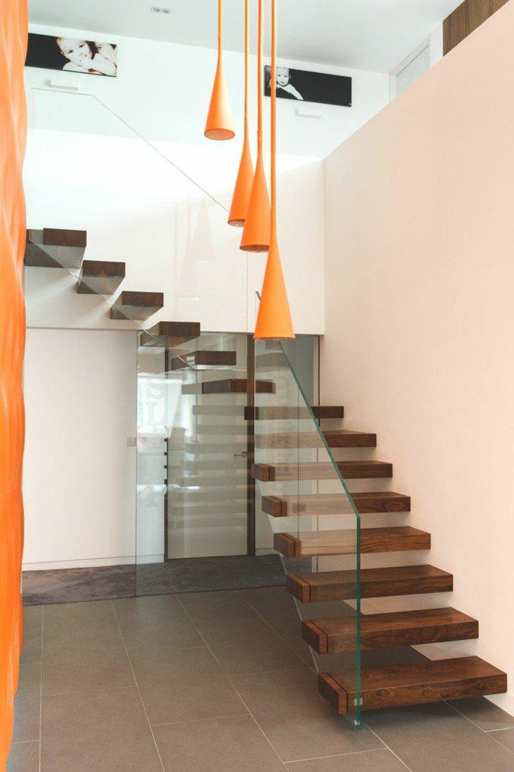 lamparas naranja variante cristal cuadros