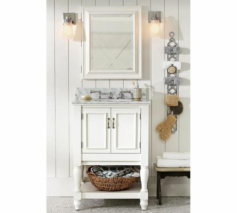 lavabo blanco bano moderno estilo minimalista ideas