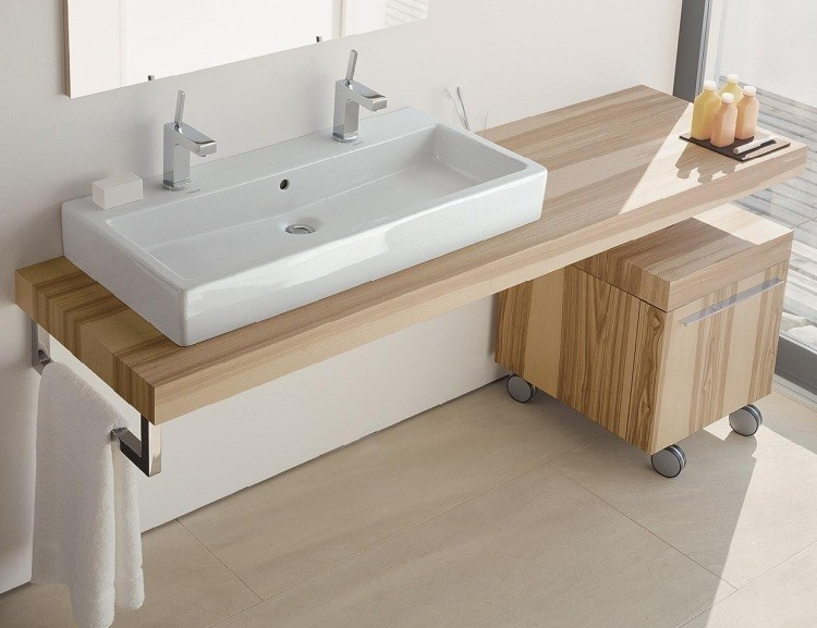 lavabo blanco rectangular porcelana