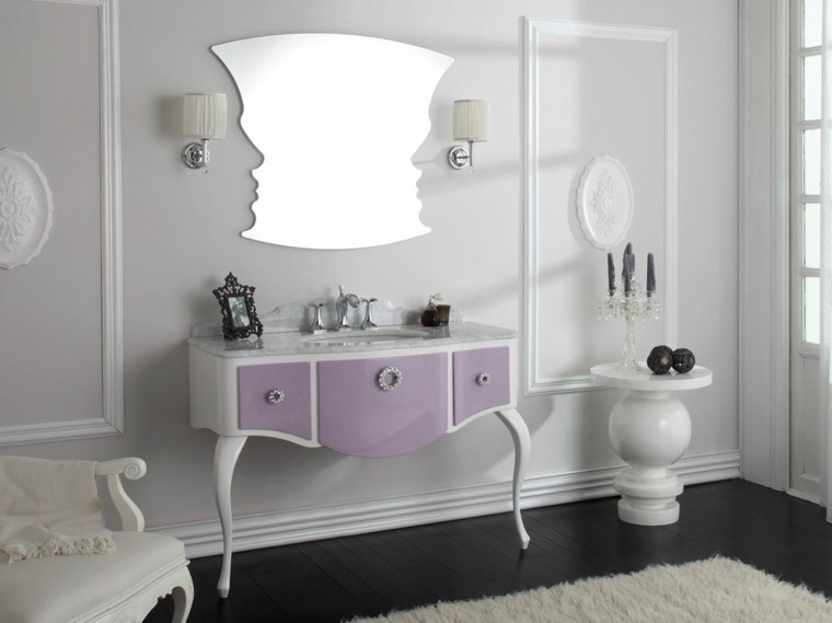 cómo decorar un baño lavabo estilo clasico espejo interesante ideas