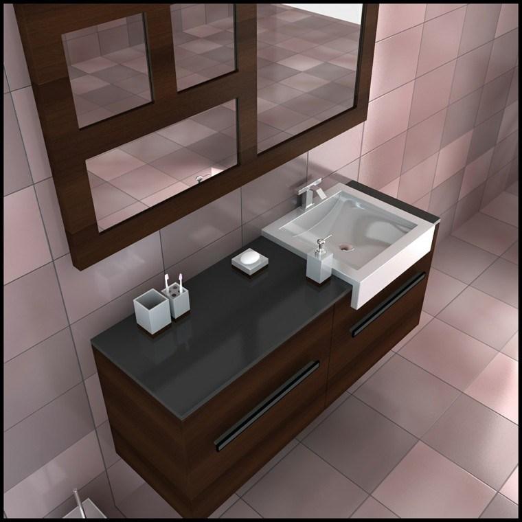 diseño lavabo moderno accesorios blancos