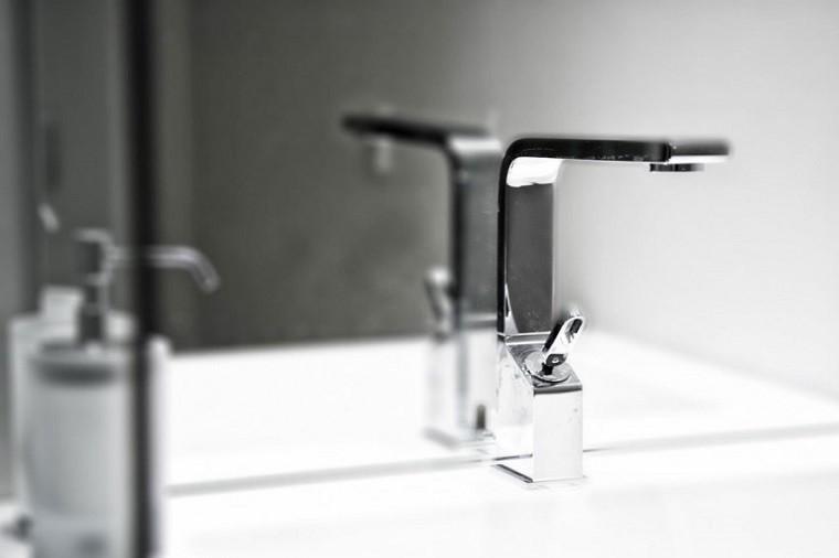 lavabo moderno baño minimalista penthouse