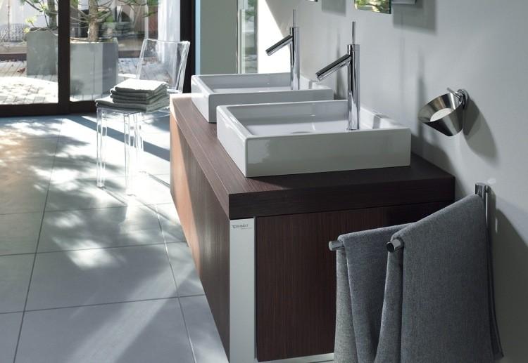 lavabos cuadrados porcelana encimera laminada