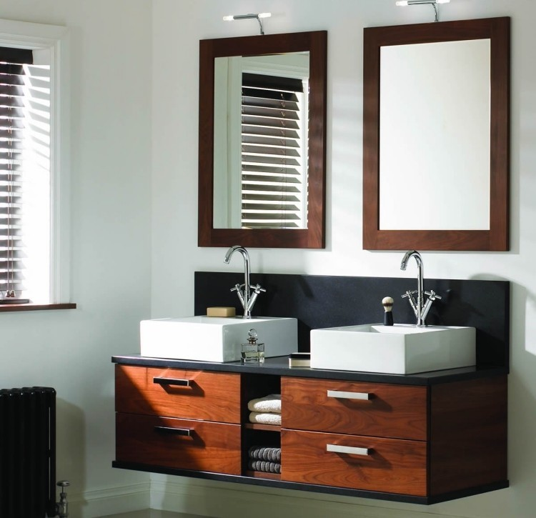 lavabos color negro madera porcelana