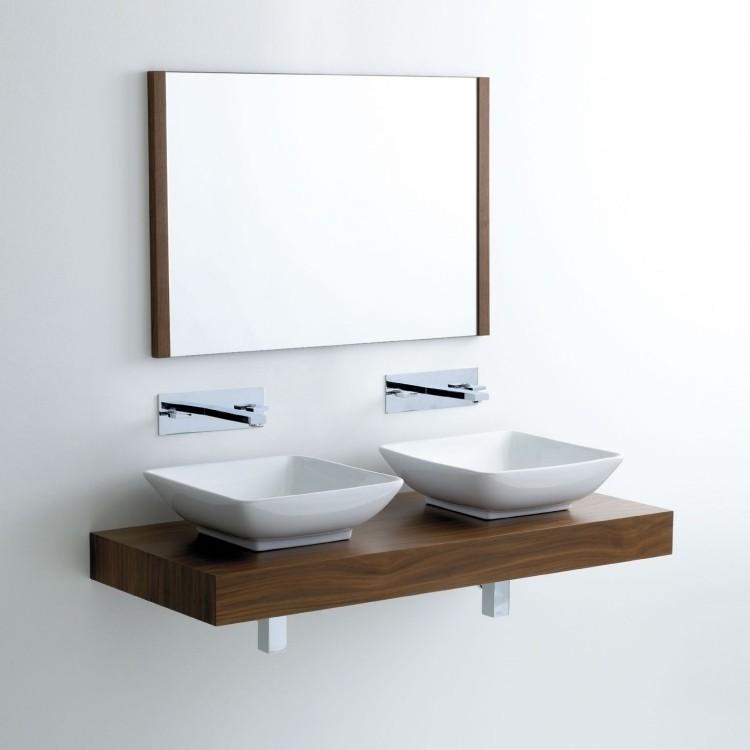 lavabos pequeños diseño minimalista encimera