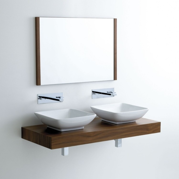 Lavabos sobre encimera modernos 50 ideas for Lavabo minimalista