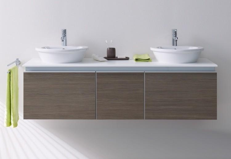lavabos redondos mueble laminado madera