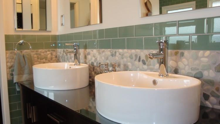 lavabos redondos porcelana brillante