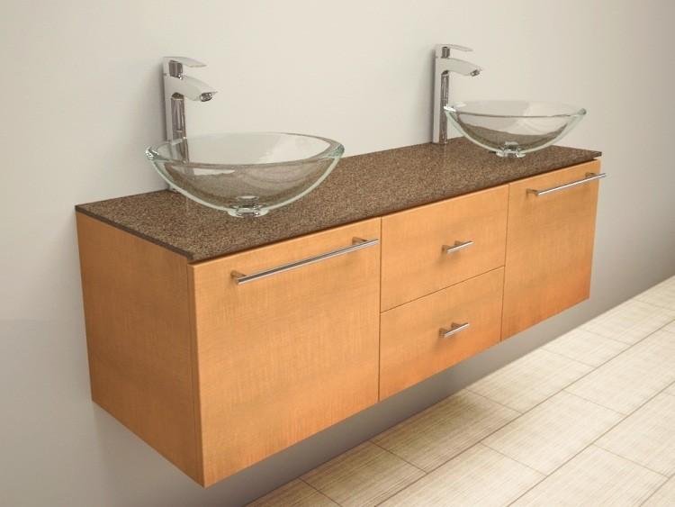 Lavabos Vidrio Para Baño:Mueble de lavabo con encimera de vidrio