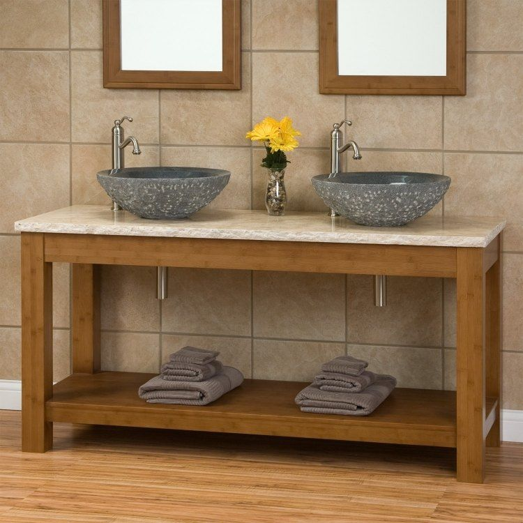 Lavabos sobre encimera modernos 50 ideas for Ovalines para lavabo