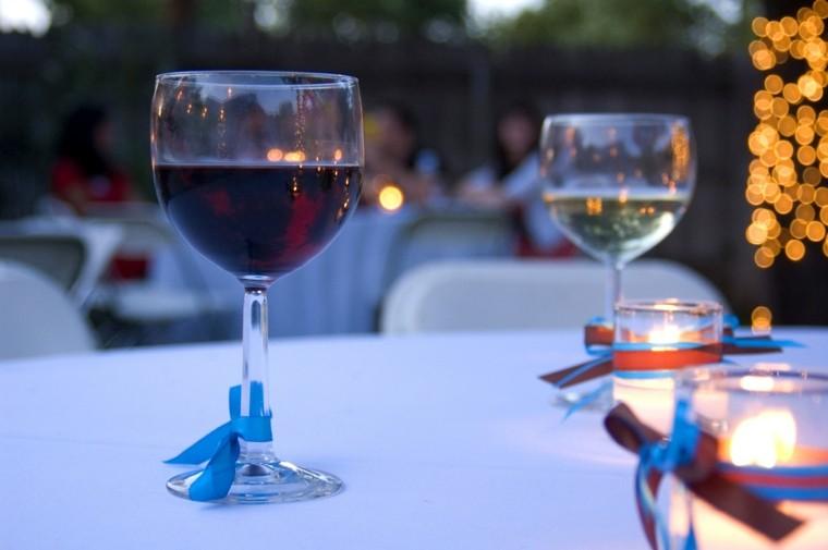 lazos colores deco copas vino