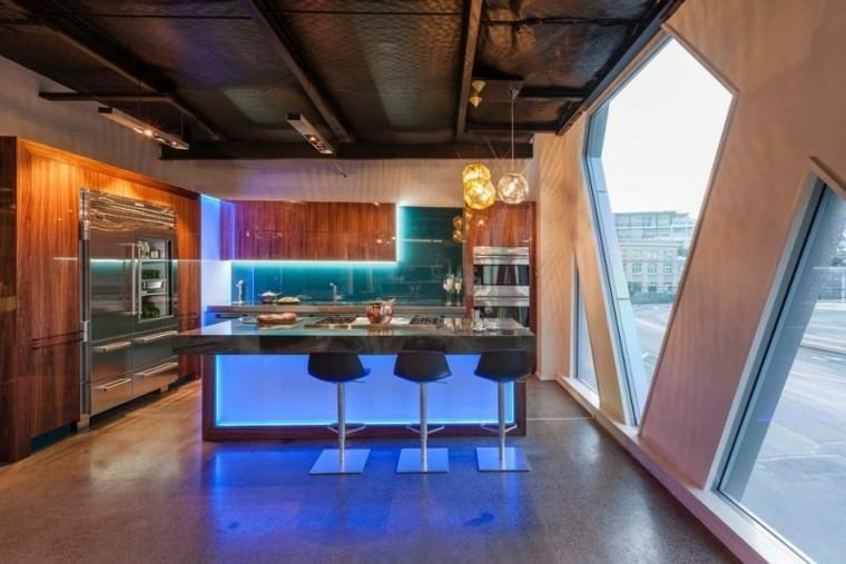 led cocinas cristal ventanas iluminacion