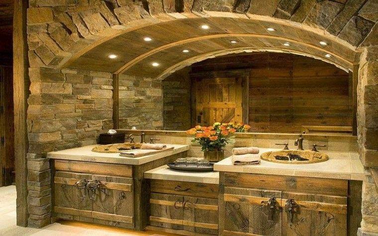 Baños Rusticos Elegantes:Diseño baños rusticos y creatividad – 50 ideas increíbles