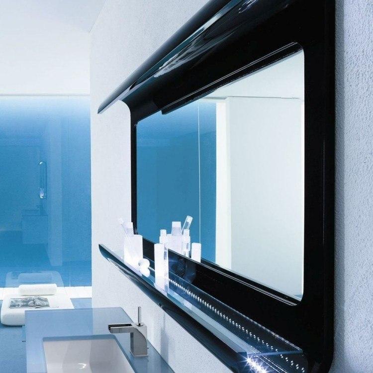led transparente negro marco moderno