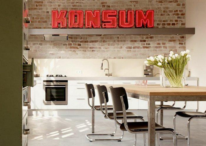 letras konsum cocina color rojo