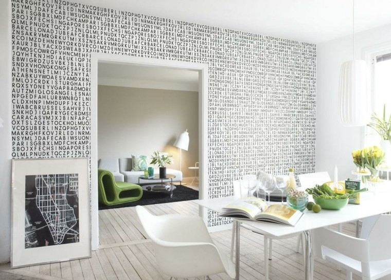 letras pared salon moderno apartamento ideas