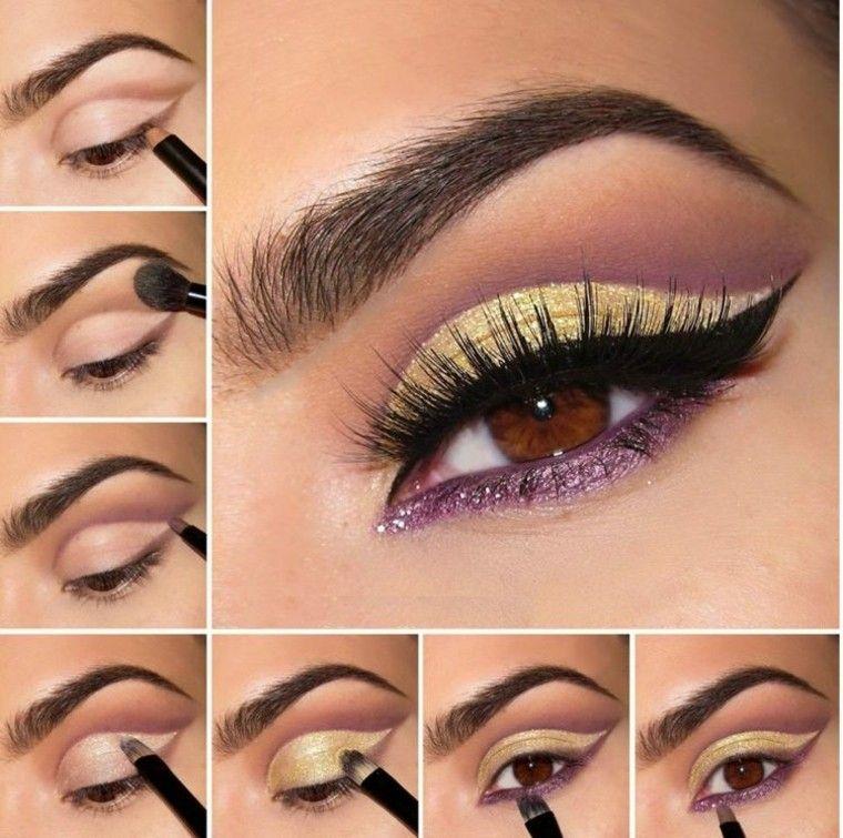 lila elegante maquillage pasos detallado