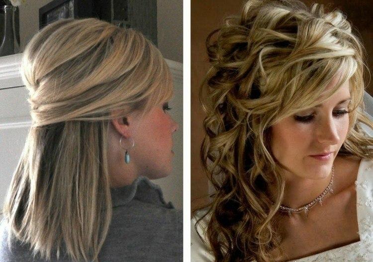 Peinados de fiesta con glamur cincuenta ideas geniales - Peinados de fiesta con rizos ...