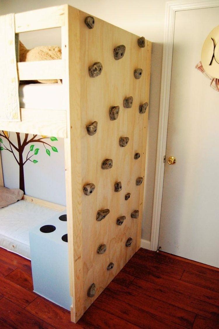 litera madera muro escalar madera