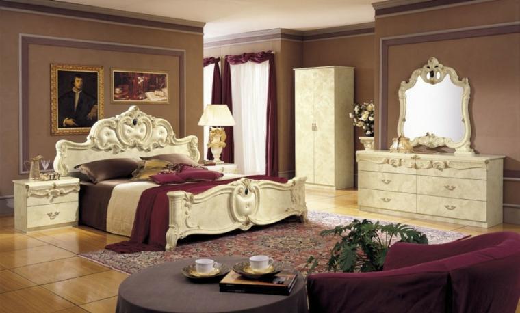 lujosa habitacion blanco cama vintage
