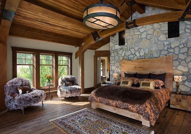 lujosa tranquila habitacion rustica lampara