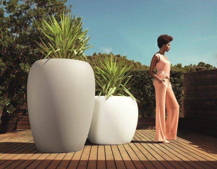 macetas grandes preciosas jardin moderno ideas