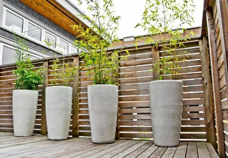 maceteros altos cilindros cañas bambu