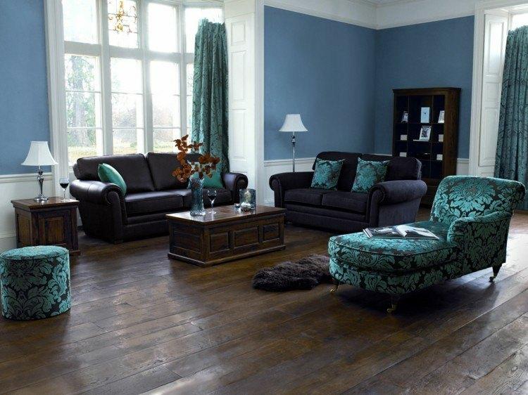 madera azul lamparas paredes ventanas