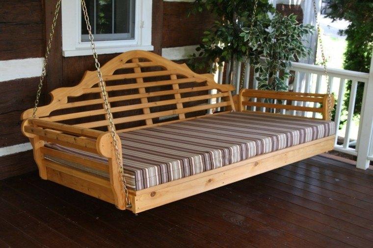 madera elegante amplio colgante rayas
