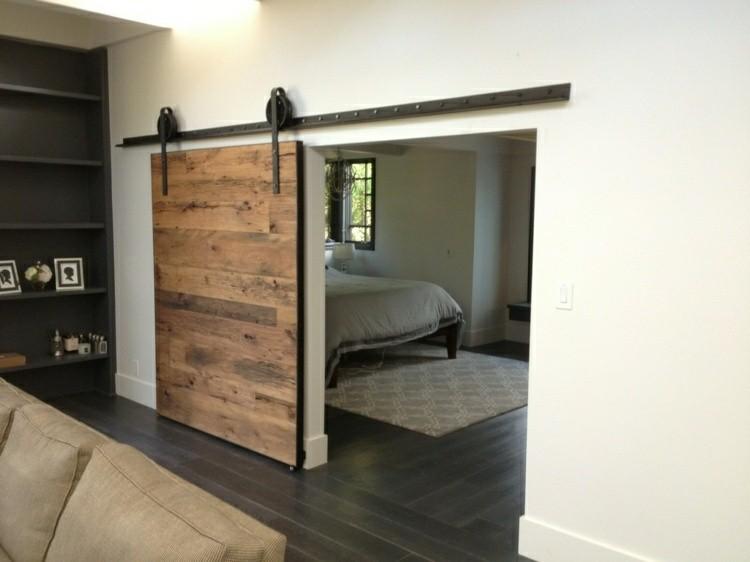 Puerta corredera 50 modelos para un espacio funcional - Como colocar puertas correderas ...