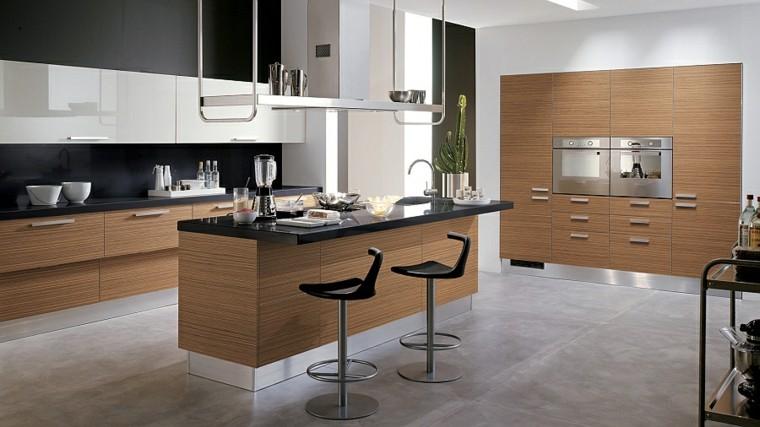 madera moderna personalizada cocina estantes
