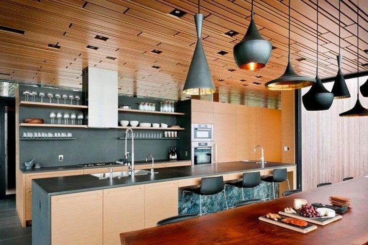 madera techo cubierta amplia moderna