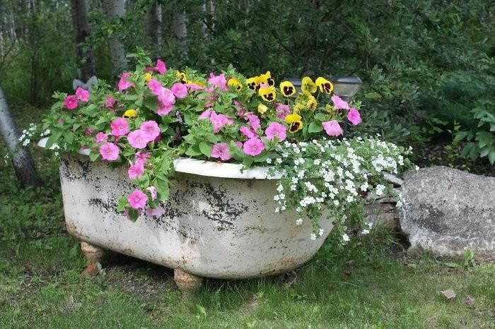 manualidades faciles bañera vieja oxidada