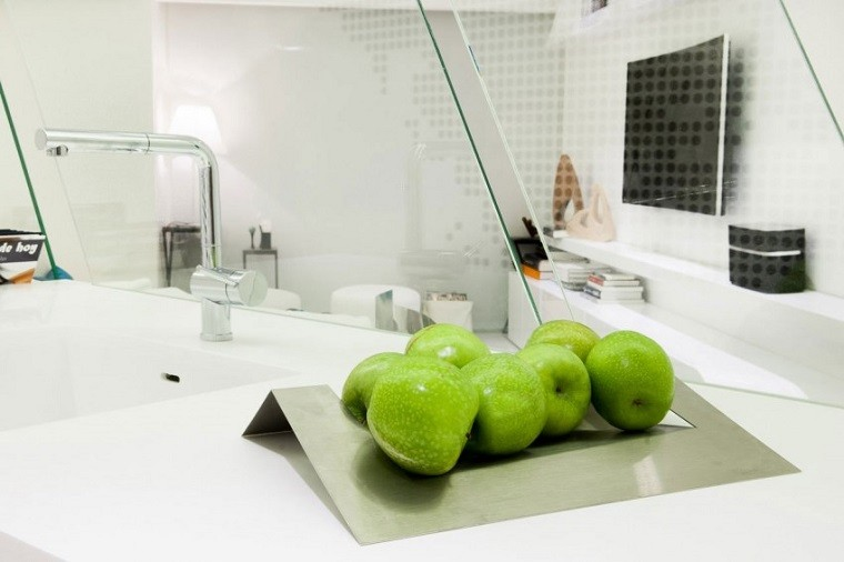 manzanas verdes lavabo estilo moderno