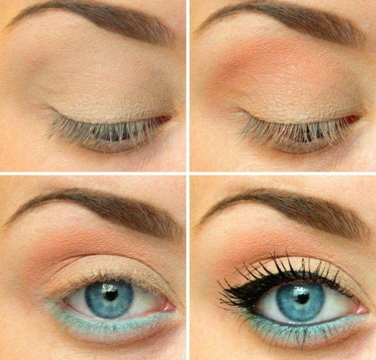 maquillaje de ojos azules efecto detalles