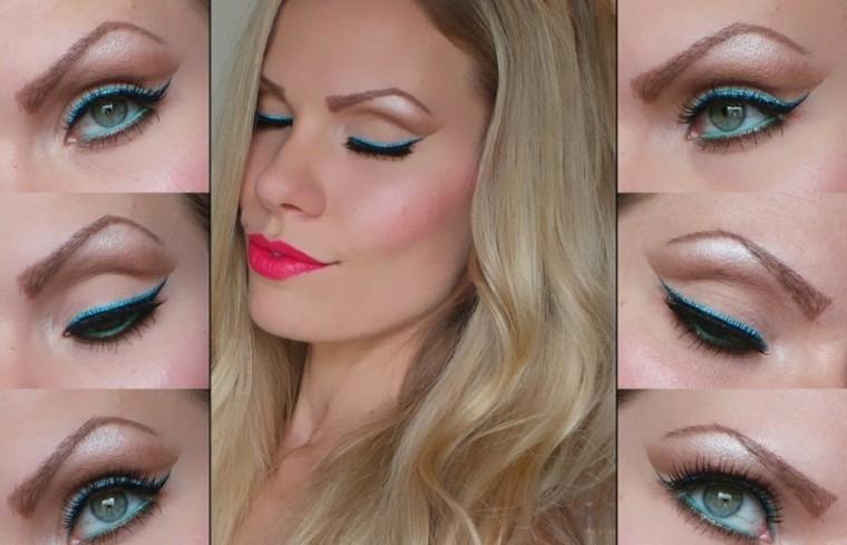 maquillaje de ojos chica delineado mujer