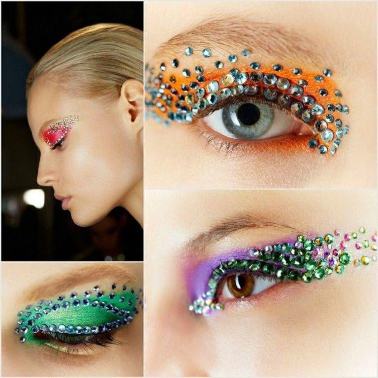 maquillaje de ojos extravagante llamativo atrevido