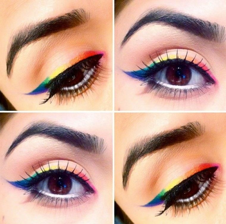 maquillaje de ojos pasos estilos colorido