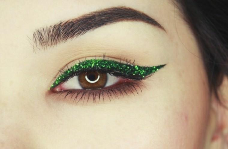 maquillaje de ojos verano verde natural