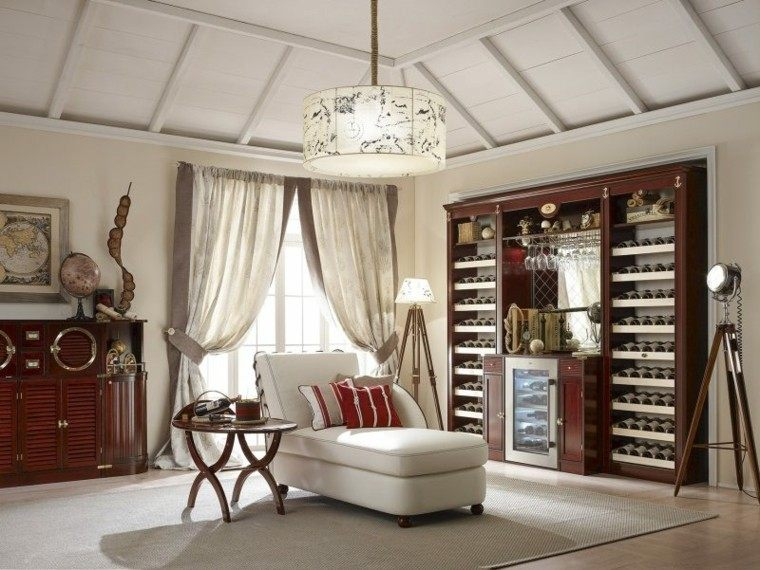 mar muebles estanterias vino madera ideas