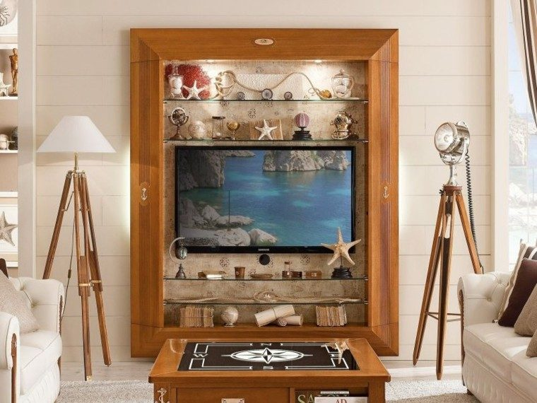 muebles salon madera televisor ultima generacio ideas